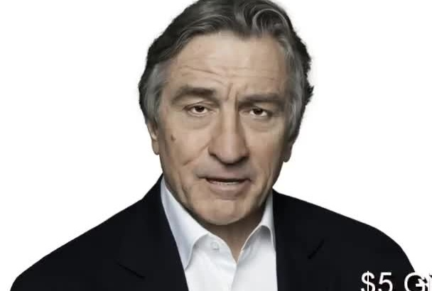 impersonate Robert De Niro In A 3D ANIMATED Video Greeting