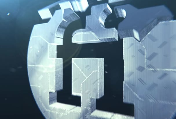 create this 3D Metal Builder intro for your logo