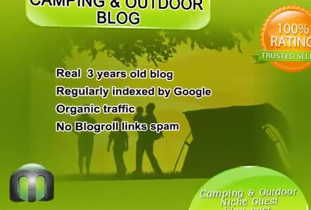 write and guest post on my camping and OUTDOOR blog