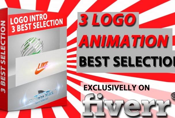 create  3 best Video Intro Logo Animation