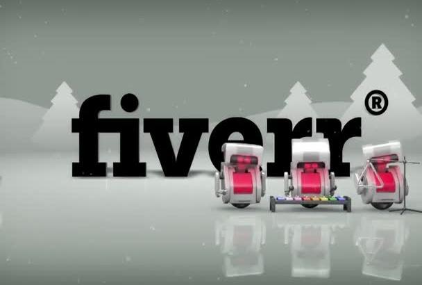 make an adorable festive Christmas robot video with your logo