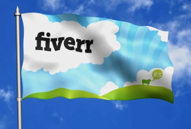 make Flag Waving in the Wind HD Animation with your image, logo or text
