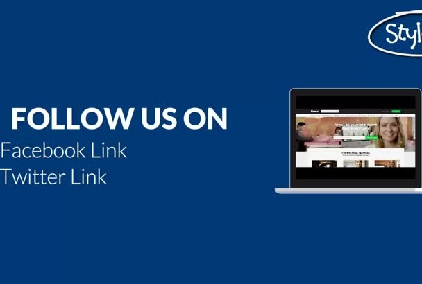 make social and web links video for your brand
