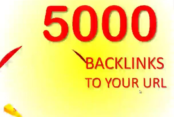 create 5000 HiGH AuTHORITY Up to PR8 BACKLINKS To YoUR uRL