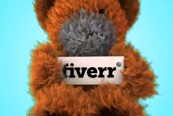 create teddy bear dancing holding your logo video