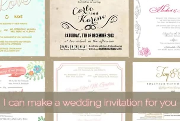 make a wedding invitation for you