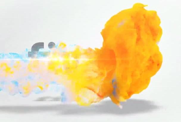 logo video Intro fire
