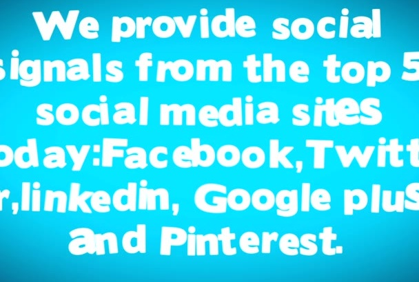 give you 900 high quality genuine SOCIAL Signals From The Top 4 Networks
