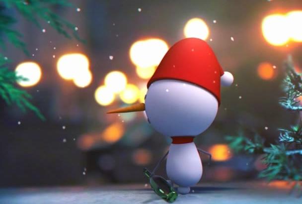 do Cute Drunk Snowman greet