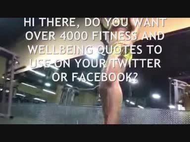 give you over 4000 tweets for fitness, health well being, that will inspire