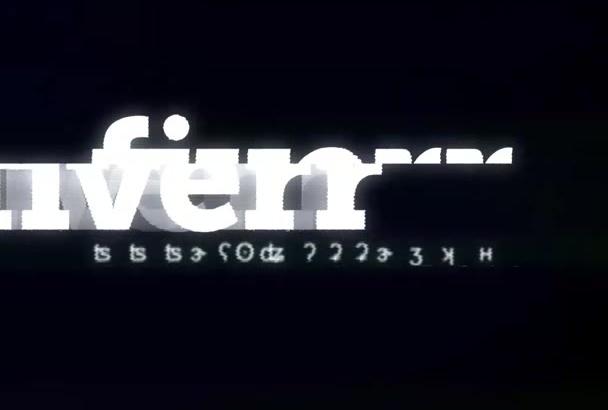 hacer una animacion Glitch de su logo