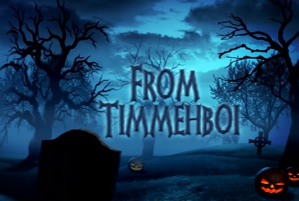 create an AWESOME animated Halloween video with your logo