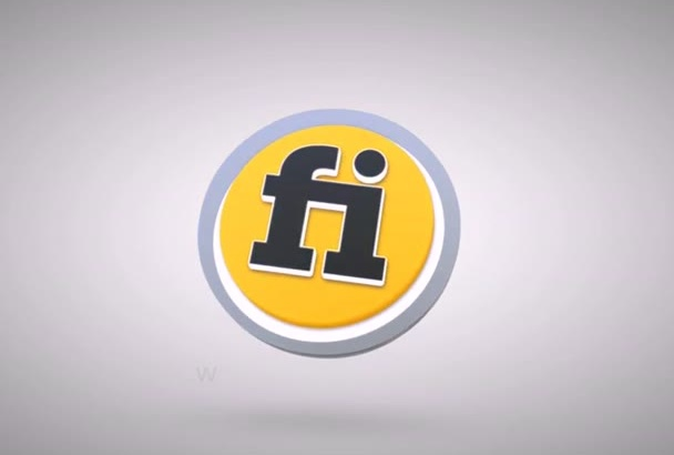 make 3d logo reveal animation  intro
