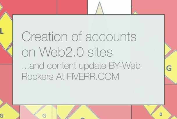 create 5 blog accounts and post manually