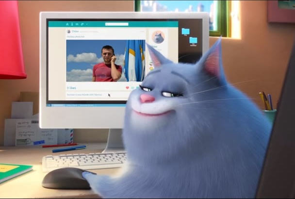 make Super Funny Cat Video with your photo logo text