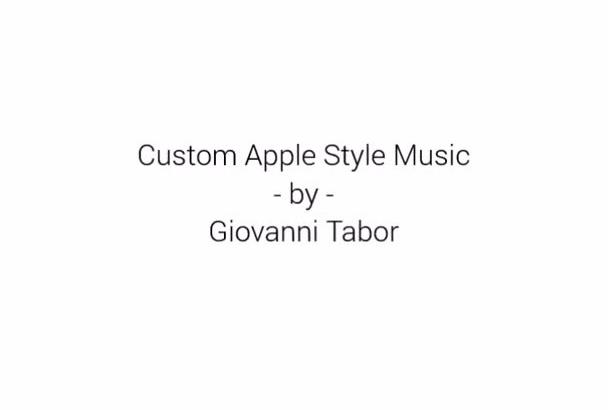 write custom Apple style music