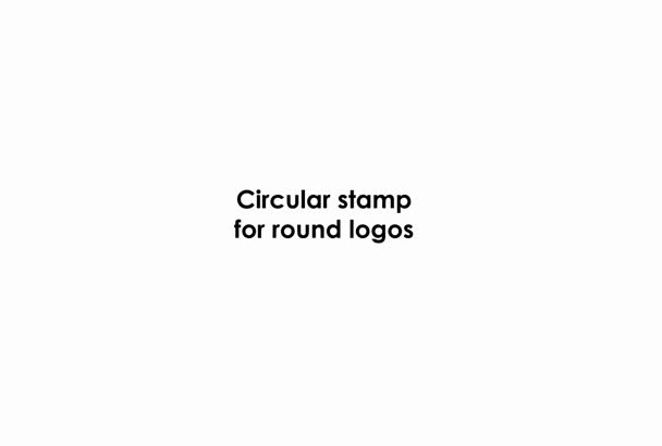 stamp your logo or text in this animation