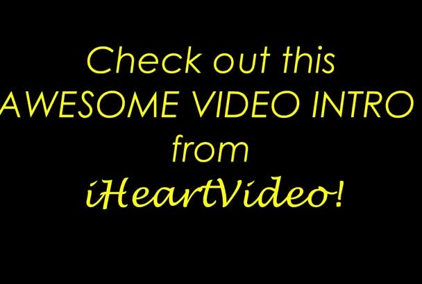 create very HOT glitch intro or outro