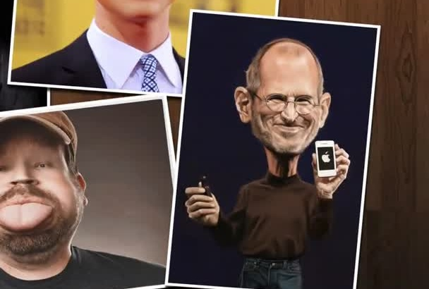 make a Digital Caricature from a photo
