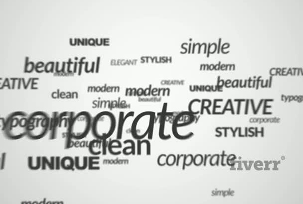 fly Business Corporate Texts Words into Logo Intro