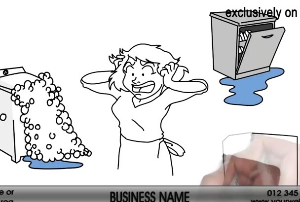 create this Appliance Repair Whiteboard Video Animation