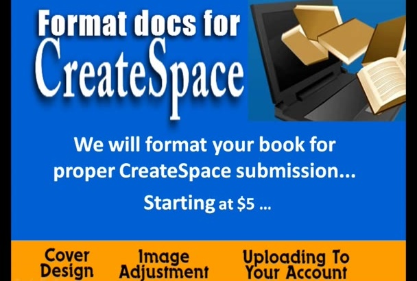 format document for proper CreateSpace submission