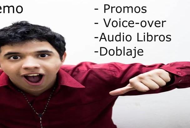 yo voy a grabar tu Voiceover Promo doblaje o narración