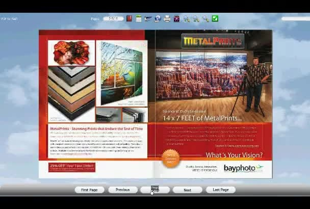 convert PDF to Flash Flip Book with page flipping animation