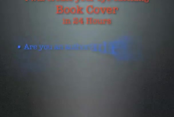 create a professional Book cover in 24 hours