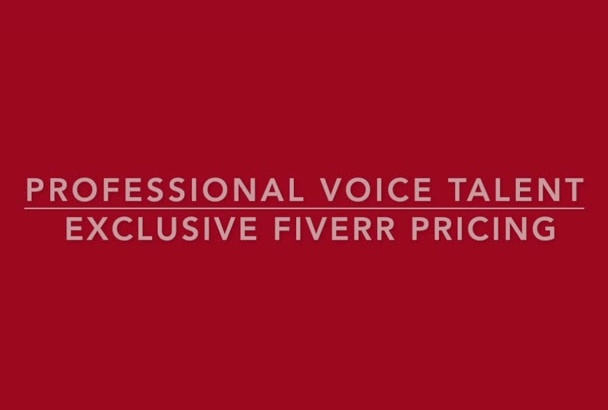 voice over narration services professional production amazing vocals