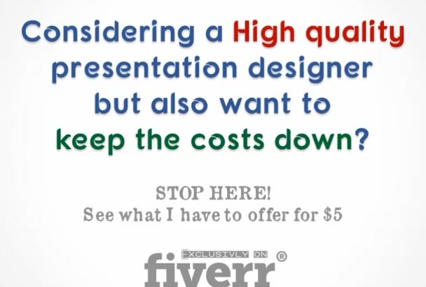 deliver an attractive POWERPOINT presentation