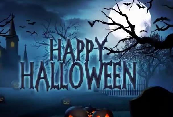 create Halloween video intros
