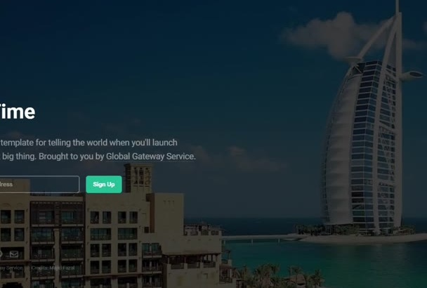 create a beautiful sliding coming soon page for your website