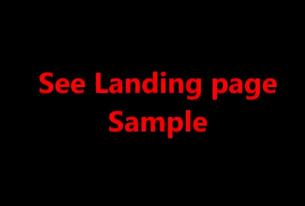 design and development squeeze page or landing page