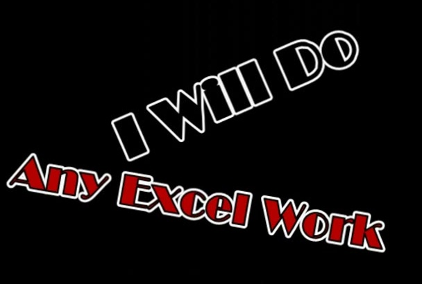 do any Excel Work in one day