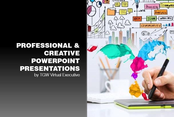 design creative PowerPoint presentations
