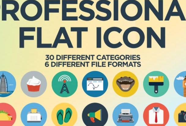 design Professional Flat Icons