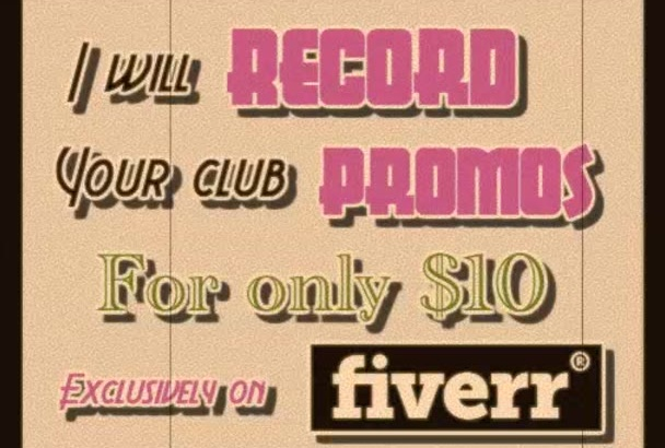 record your club commercials for 10 dollars