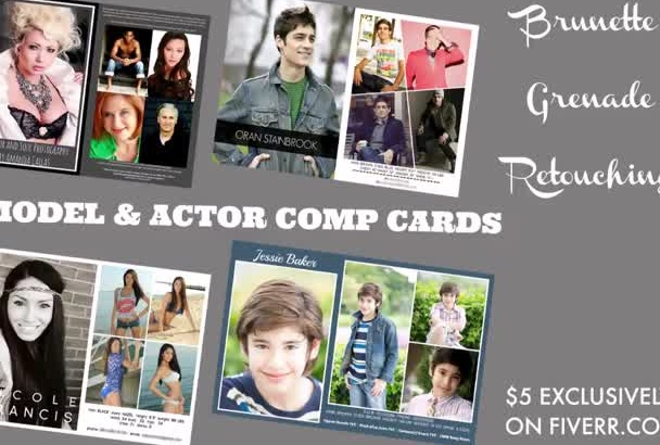 design a Model or Actor comp card