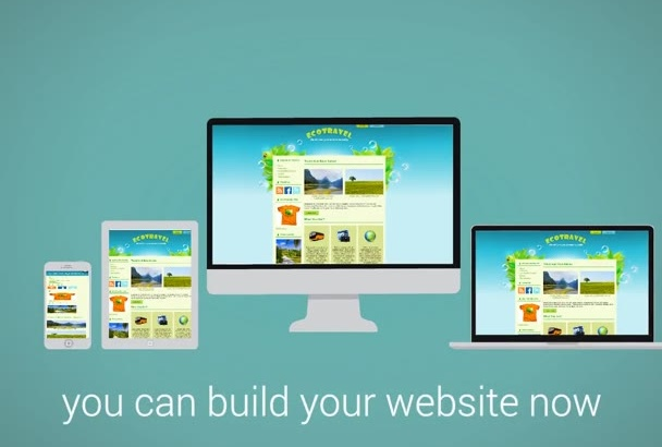 create Awesome Responsive Website or ecommerce store