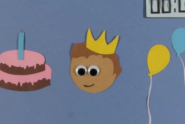 create a BIRTHDAY greeting animation