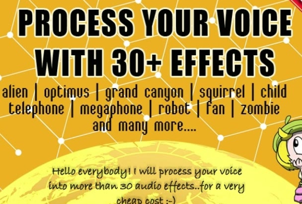 process your voice or recording with 30s cool effects