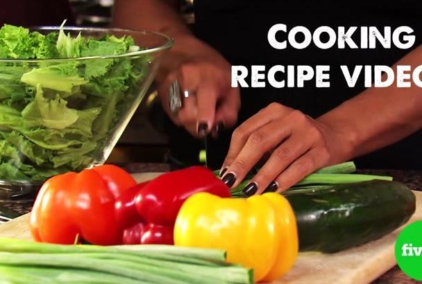 create an HD video cooking recipe
