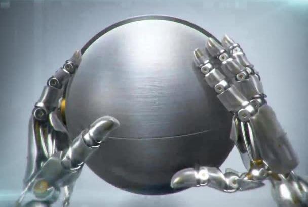 make a futuristic Robotic Hands Logo reveal Video