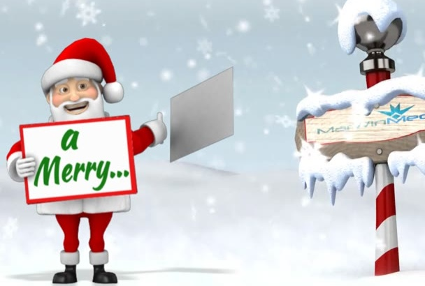 create a Christmas Animation video