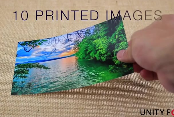 print 10 pictures with message card and send it