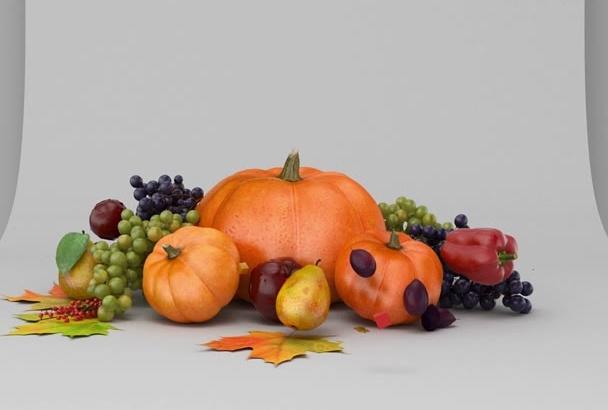create Thanksgiving greeting animation