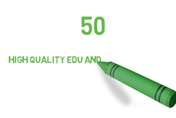 manually build 50 high quality edu and gov seo backlinks