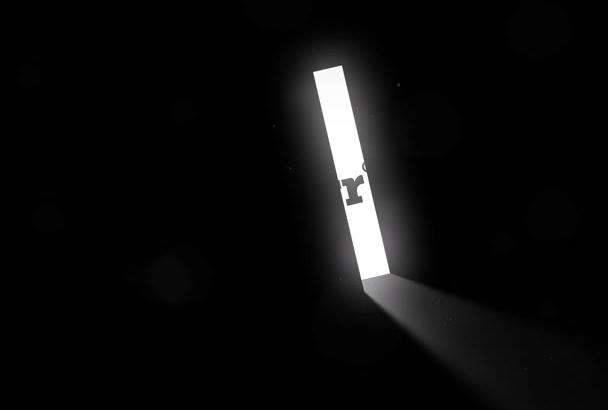 create heavenly door opening logo intro