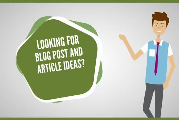 give you blog post and article ideas that will last 1 year